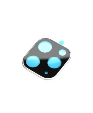Ochranný kryt na fotoaparát s tvrdeným sklom pre Apple iPhone 11 Pro strieborný