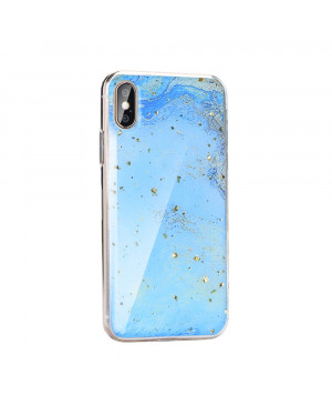 Silikónové puzdro Forcell Marble 3 pre Apple iPhone 11 Pro Max modré