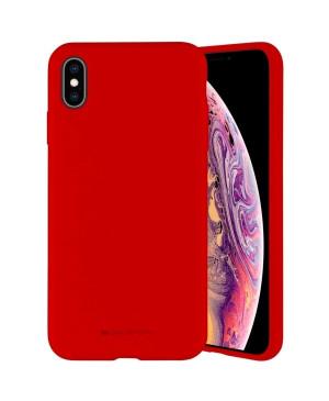 Silikónové puzdro na Apple iPhone 7/8/SE 2020 Mercury Silicone červené