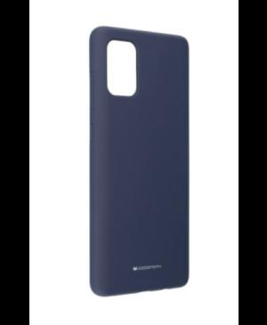 Silikónové puzdro na Samsung Galaxy A71 A715 Mercury Silicone modré