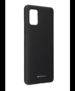 Silikónové puzdro na Samsung Galaxy A51 A515 Mercury Silicone čierne