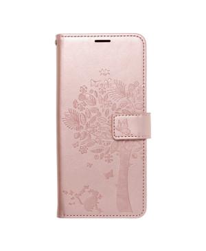 Diárové puzdro na Samsung Galaxy A03s A037 Forcell MEZZO strom ružovozlaté