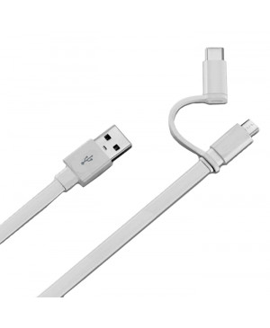 Micro USB kábel s redukciou na USB typ-C Huawei AP55 biely