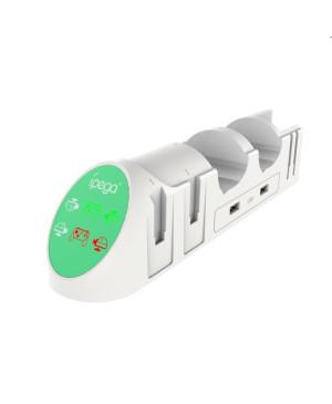 Nabíjacia stanica iPega 9187 pre Nintendo Switch PRO Controller a Joy-con biela