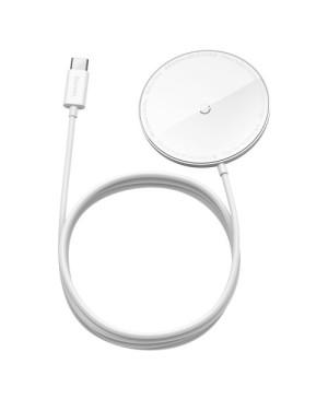 Magnetická bezdrôtová nabíjačka BASEUS Baseus Simple Mini na Apple iPhone 12/12 Pro/12 Pro Max biela