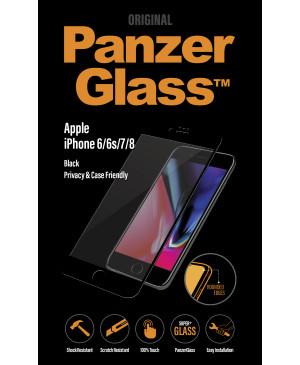 PanzerGlass Privacy Case Friendly pre Apple iPhone SE 2020/8/7/6s/6 čierne