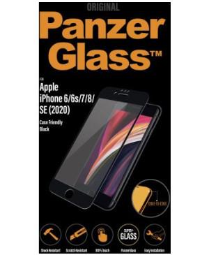 PanzerGlass tvrdené sklo Case Friendly pre iPhone SE 2020/8/7/6s/6 čierne