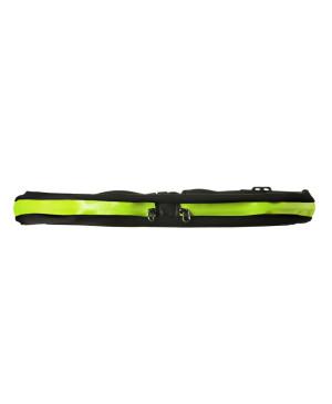 Bezečký pás s dvoma vreckami zelený