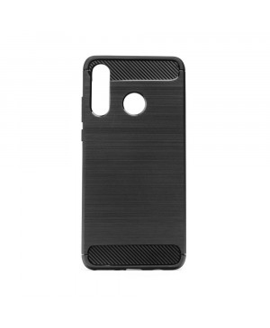 Pevné silikónové puzdro Forcell Carbon pre Huawei P30 Lite čierne