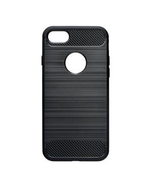 Pevné silikónové puzdro Forcell Carbon pre Samsung Galaxy S10e čierne