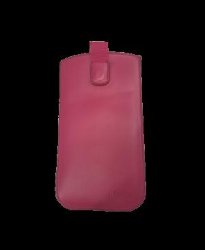 Puzdro vsuvka uni pravá koža, SK výroba veľkosť 35 ružové