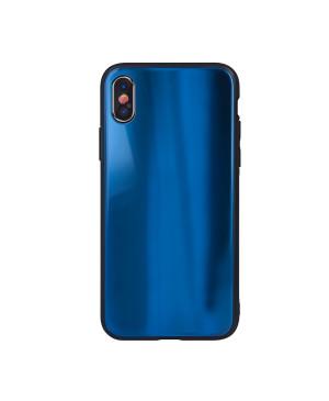 Plastové puzdro Aurora Glass pre Samsung Galaxy A10 tmavo modré