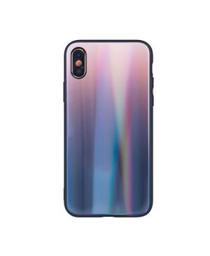 Plastové puzdro Aurora Glass pre Samsung Galaxy J4 Plus 2018 hnedo- čierne
