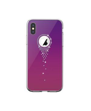 Plastové puzdro Devia Angel Tears pre Apple iPhone XS Max fialové