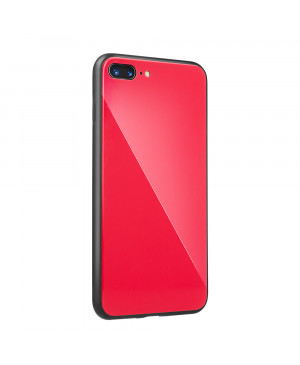 Plastové puzdro Glass case pre Apple iPhone XS Max červené