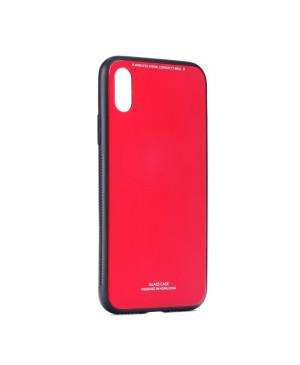 Plastové puzdro Glass case pre Huawei Y6 2019 červené