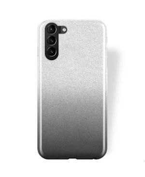 Silikónové puzdro na Samsung Galaxy A12 A125 Shine Bling čierno-strieborné