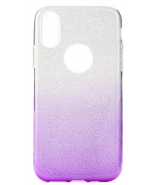 Silikónové puzdro Forcell Shining pre Samsung Galaxy A51 fialové