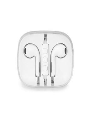Handsfree slúchadlá Stereo pre Apple iPhone biele