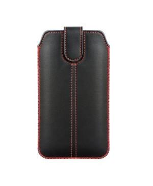 Puzdro vsúvka Chic Pocket  Ultra Slim M4 pre Apple iPhone 3G/3Gs/4/4s čierne s červeným šitím