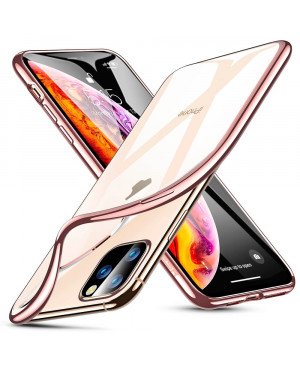 Silikónové puzdro ESR Essential Crown pre Apple iPhone 11 ružovo zlaté