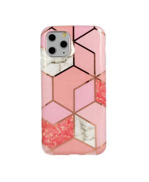 Silikónové puzdro na Apple iPhone 11 Cosmo Marble ružové