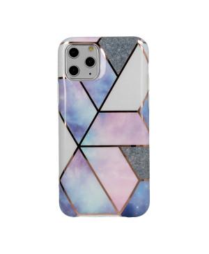 Silikónové puzdro na Apple iPhone XR Cosmo Marble modro ružové