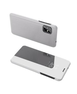Clear View Case cover pre Samsung A71 Strieborný
