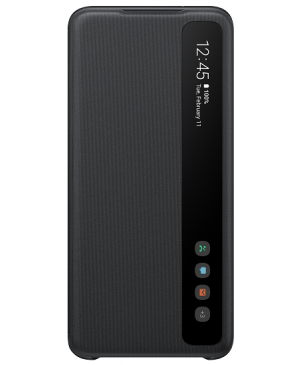 Samsung EF-ZG988CB Clear view cover pre Galaxy S20 Ultra, čierne