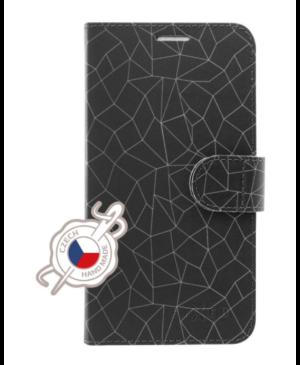 Diárové puzdro na Samsung Galaxy A7 A750 2018 Fixed Fit Mesh šedé