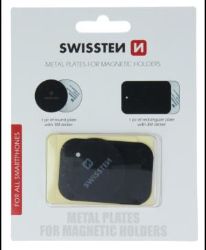 Swissten kovový štítok 2ks (k magnetickým držiakom) blister