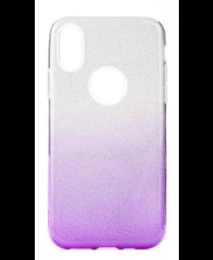 Silikónové puzdro na Samsung Galaxy A41 Shine Bling strieborno-fialové