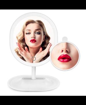 Kozmetické Make-Up zrkadlo iMirror Charging nabíjací s LED osvetlením biele