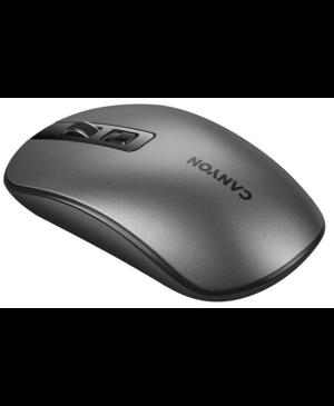 Optická myš Canyon CNS-CMSW18DG USB, 800/1200/1600 dpi, QI wireless sivá