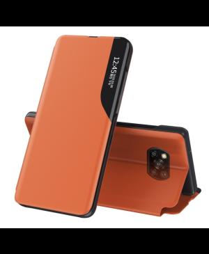 Diárové puzdro na Xiaomi Poco X3/X3 Pro View Elegance  oranžové
