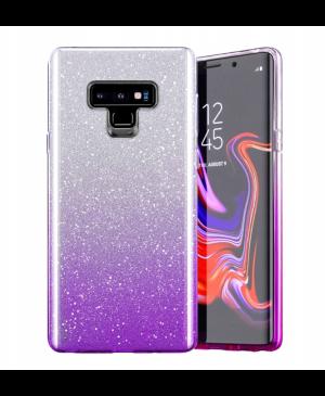 Silikónové puzdro na Samsung Galaxy A6 A600 Shine Bling fialové