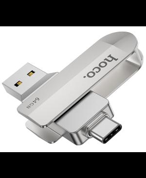 USB kľúč HOCO Wide UD10 USB + Typ C 64GB USB3.0