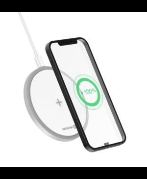 Bezdrôtová nabíjačka Swissten Wireless 15W biela