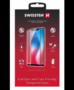 Tvrdené sklo na Samsung Galaxy S21 Swissten Durable 9H celotvárové čierne