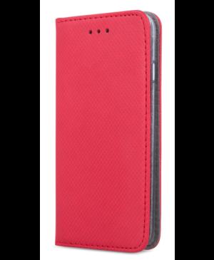 Diárové puzdro na Motorola Moto G9 Power Smart Book červené