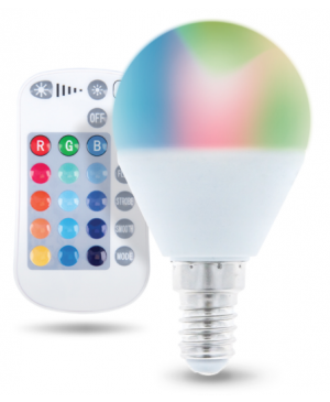 Smart žiarovka E14 G45 RGB 5W RC Forever Light biela