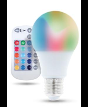 Smart žiarovka E27 A60 RGB 9W RC Forever biela