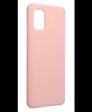 Silikónové puzdro na Samsung Galaxy A51/A51 5G Mercury Silicone ružové