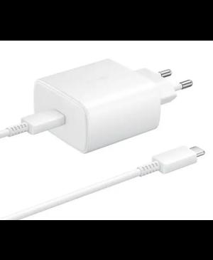 Sieťová nabíjačka Samsung USB-C EP-TA800EWE + EP-DA905BWE 25W biela (bulk)