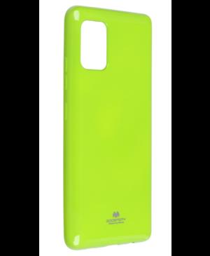 Silikónové puzdro na Samsung Galaxy A12 Mercury Jelly limetové