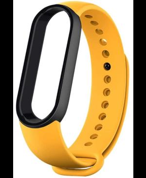 Silikonový náramok pre Xiaomi Mi Band 5/6 Black/Yellow