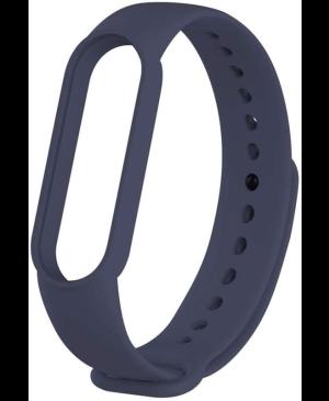 Silikonový náramok pre Xiaomi Mi Band 5/6 Tmavomodrá (Bulk)
