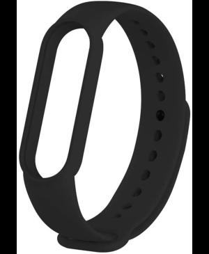 Silikonový náramok pre Xiaomi Mi Band 5/6 Black (Bulk)
