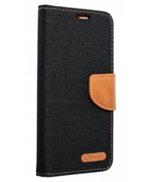 Diárové puzdro na Apple iPhone 6/6S Canvas čierne