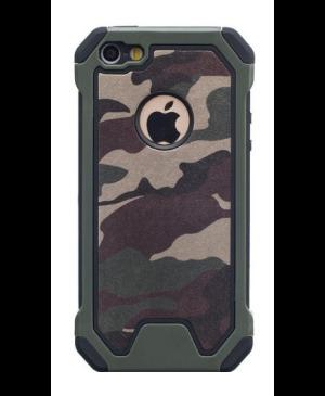 Silikónové puzdro Army Camouflage TPU pre iPhone 12/12 Pro zelené